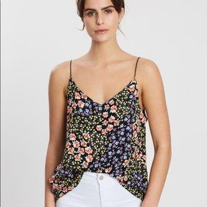 3/$15 COTTON ON Astrid Black Floral Tank Top Small